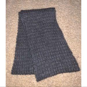 Gray, knit infinity scarf